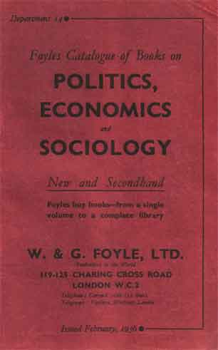 Foyles Catalogue of Book on Politics, Economics and Sociology –